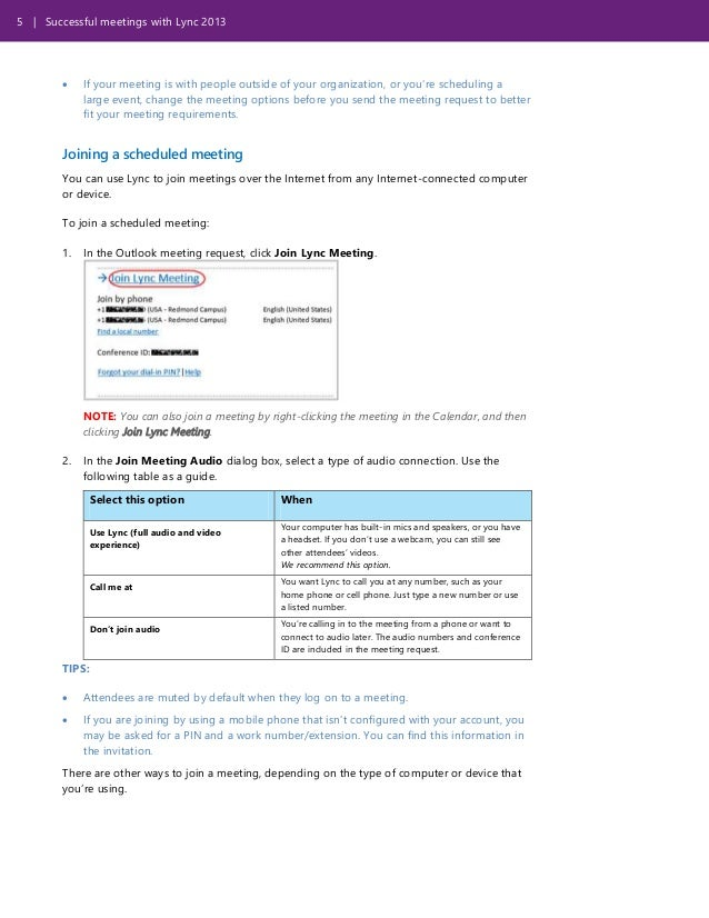 Share Calendar Outside Organization : Successful meetings with lync template for training