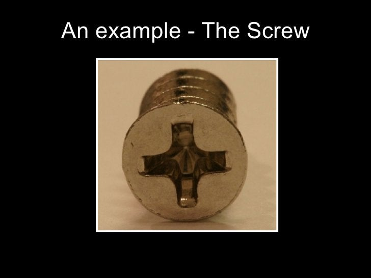 <ul><li>An example - The Screw </li></ul>
