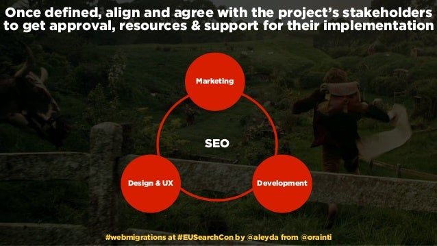 #webmigrations at #EUSearchCon by @aleyda from @orainti Once defined, align and agree with the project's stakeholders to ge...