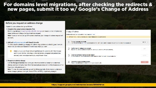 #webmigrations at #EUSearchCon by @aleyda from @orainti For domains level migrations, after checking the redirects & new p...