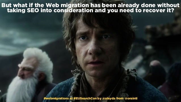 #webmigrations at #EUSearchCon by @aleyda from @orainti But what if the Web migration has been already done without taking...