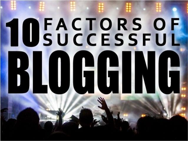 10 Factors of Successful Blogs