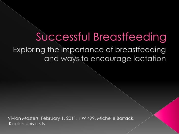 Successful Breastfeeding<br />Exploring the importance of breastfeeding and ways to encourage lactation<br />Vivian Master...