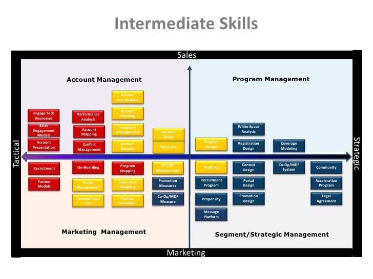 Successful Channel Manager Skills Matrix