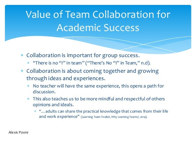 Collaborative For Student Success ~ Successful collaboration and team dynamics