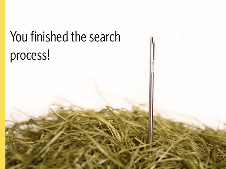 execution is not search