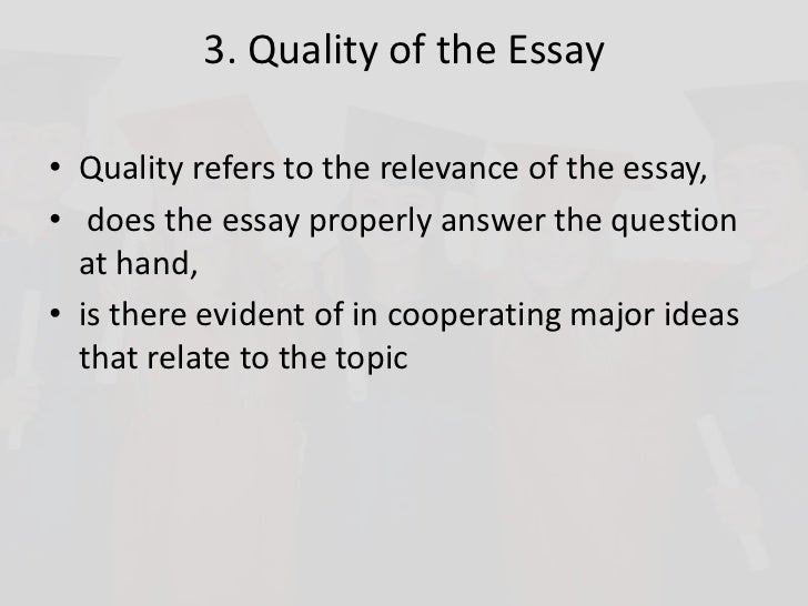 Successful essay writing