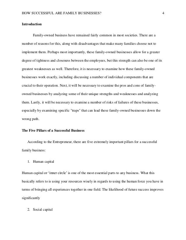 Successful Family Business Final Paper  How Successful Are Family Businesses