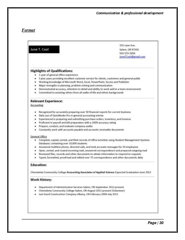 1 10 puffing your resume