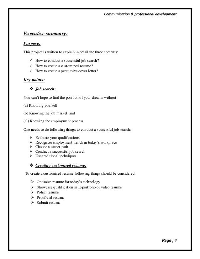 Unsolicited Cover Letter 40; 4.  Successful Resume