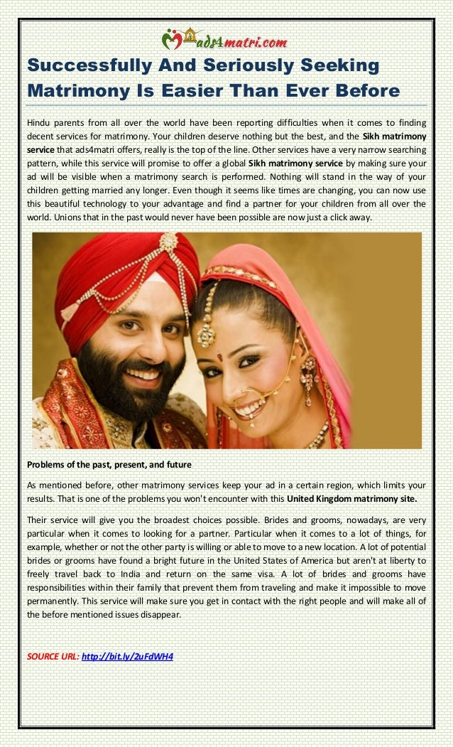 Successfully And Seriously Seeking Matrimony Is Easier Than Ever Before Hindu parents from all over the world have been re...