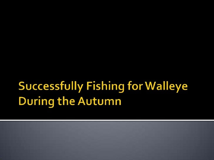 Successfully fishing for walleye during the autumn