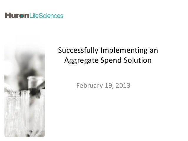 Successfully Implementing an  Aggregate Spend Solution     February 19, 2013