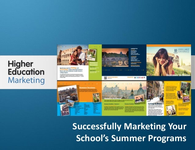 Successfully marketing your school's summer programs