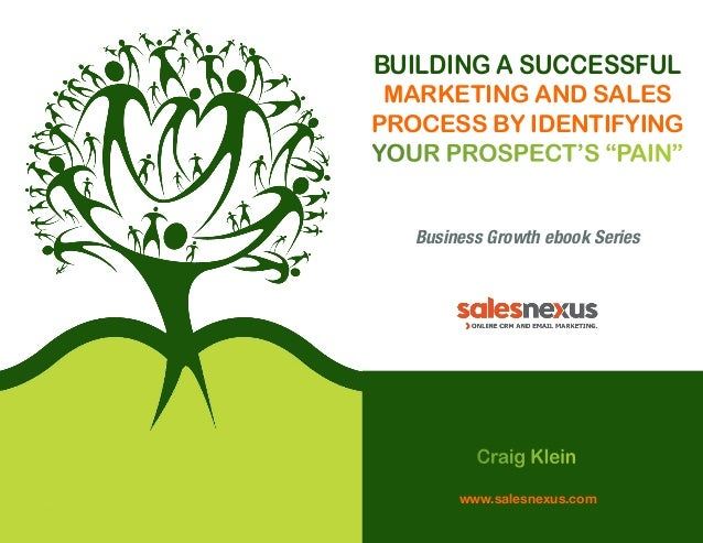 """Building a Successful Marketing and Sales Process by Identifying Your Prospect's """"Pain"""" Business Growth ebook Series  Crai..."""