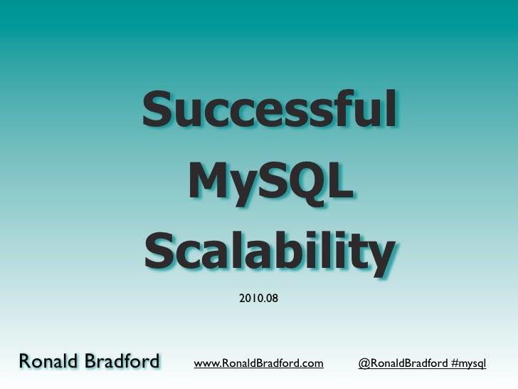 Successful               MySQL              Scalability                          2010.08     Ronald Bradford   www.RonaldB...