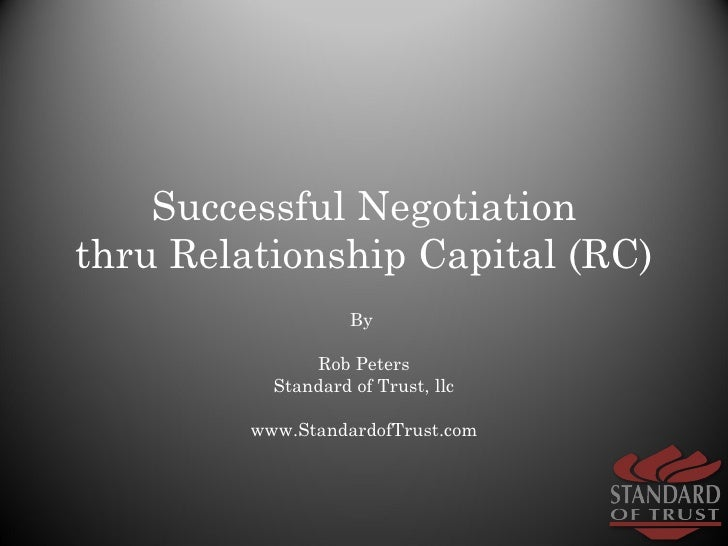 relationship and trust in negotiation