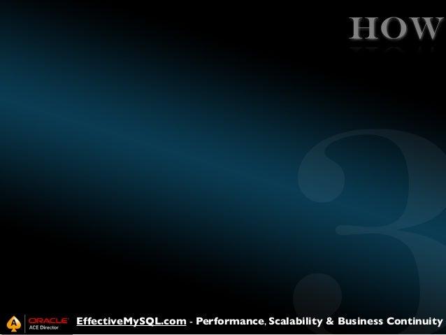 HOW  EffectiveMySQL.com - Performance, Scalability & Business Continuity
