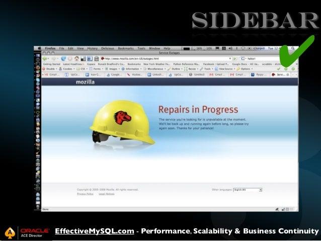 SIDEBAR  ✔  EffectiveMySQL.com - Performance, Scalability & Business Continuity