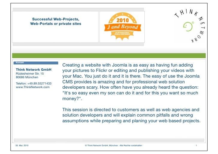 Successful Web-Projects,                 Web-Portals or private sites     Kontakt                                  Creatin...