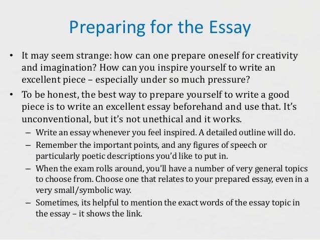 essay speech how to prepare for examination