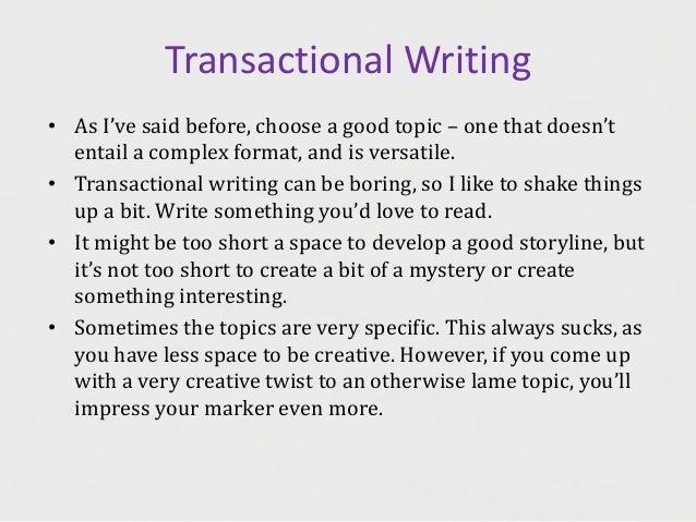 transactional writing ppt