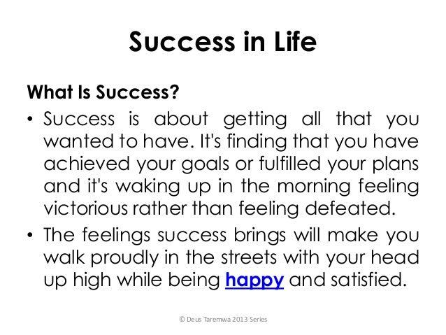 Defining success in life is graduating college success
