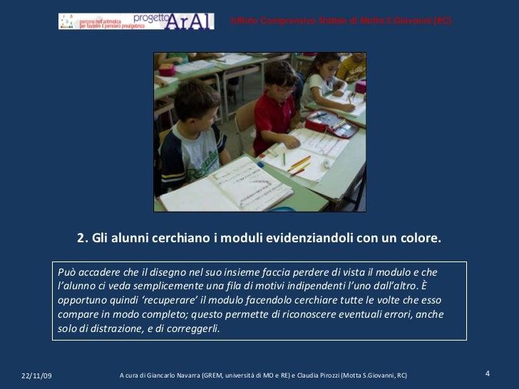 2. Gli alunni cerchiano i moduli evidenziandoli con un colore. <ul><li>Può accadere che il disegno nel suo insieme faccia ...