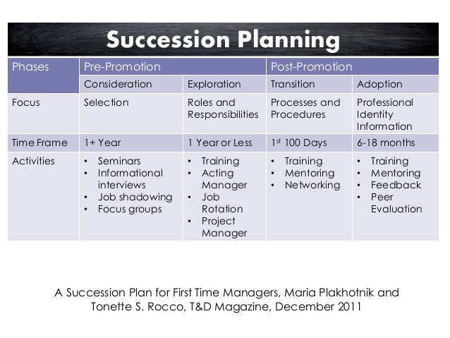 succession planning and the development of your high
