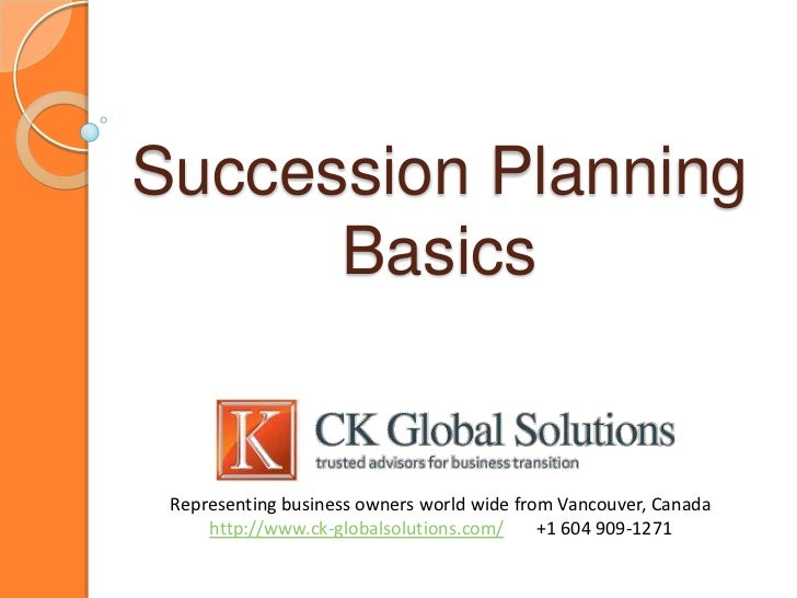 Bc business succession plan buyout