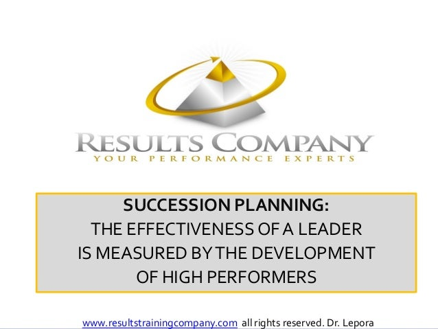 NAAAHR<br />SUCCESSION PLANNING:<br />THE EFFECTIVENESS OF A LEADER <br />IS MEASURED BY THE DEVELOPMENT <br />OF HIGH PER...