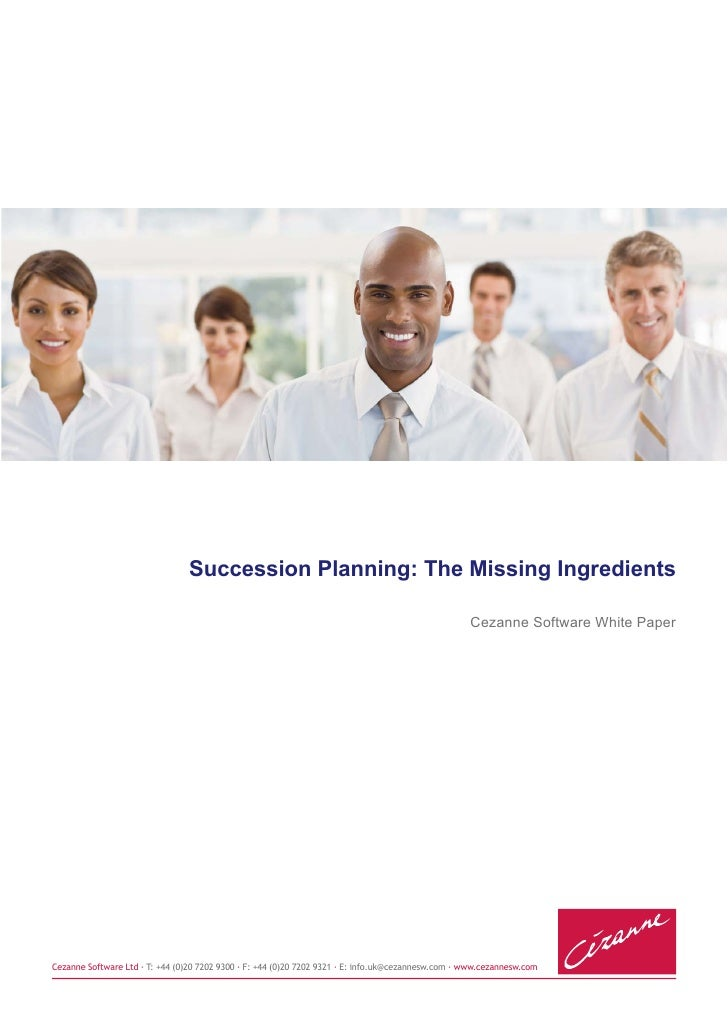 Succession Planning: The Missing Ingredients                                                                              ...