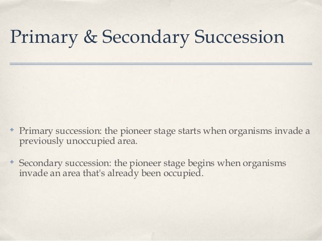 Succession ppt – Primary and Secondary Succession Worksheet