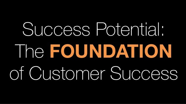 Success Potential: The FOUNDATION of Customer Success