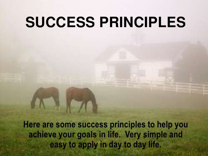 SUCCESS PRINCIPLESHere are some success principles to help you achieve your goals in life. Very simple and       easy to a...