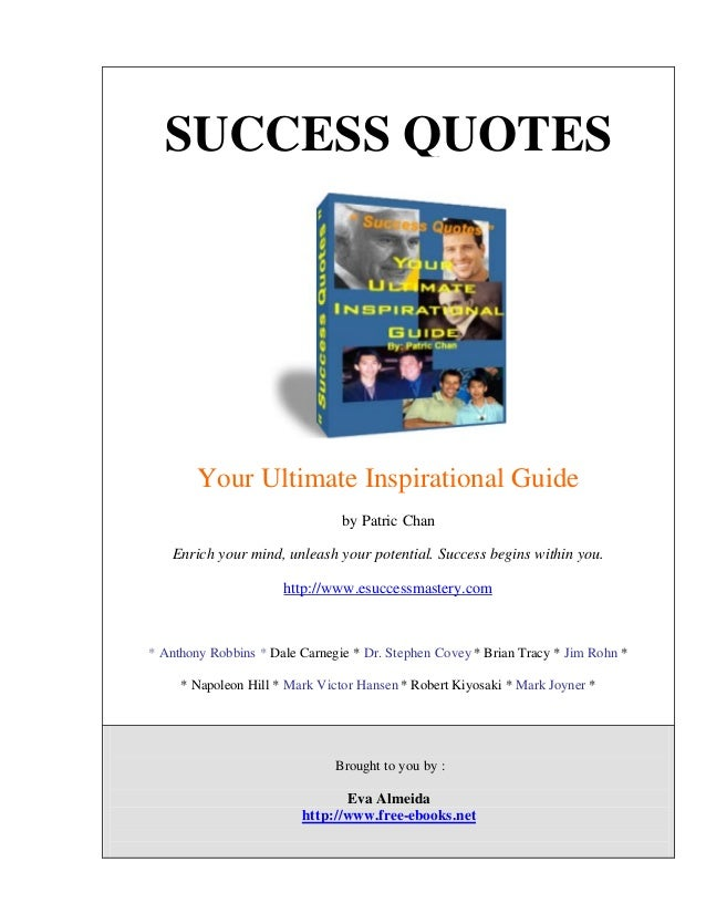 Success quotes success quotes your ultimate inspirational guide by patric chan enrich your mind unleash your potential congratulations on taking the fandeluxe Images
