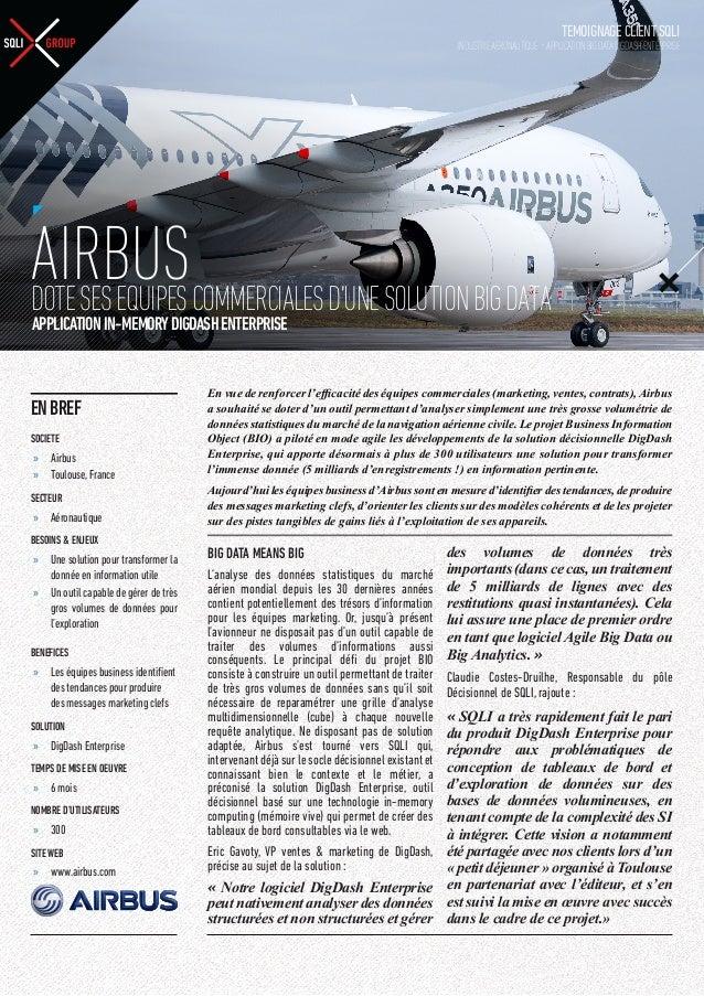 TEMOIGNAGE CLIENT SQLI  INDUSTRIE AERONAUTIQUE - APPLICATION BIG DATA DIGDASH ENTERPRISE  AIRBUSCOMMERCIALES D'UNE SOLUTIO...