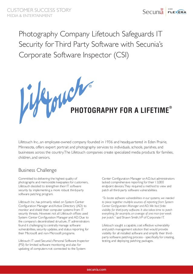 Photography Company Lifetouch Safeguards IT Security for ...