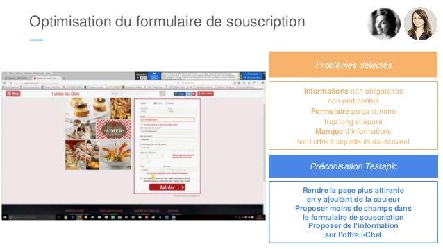Optimisation du formulaire de souscription ― Informations non obligatoires non pertinentes Formulaire perçu comme trop lon...