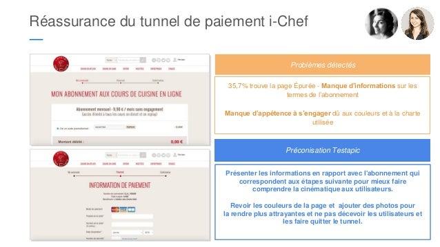 Réassurance du tunnel de paiement i-Chef ― 35,7% trouve la page Épurée - Manque d'informations sur les termes de l'abonnem...