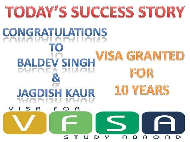 Success story visa for canada