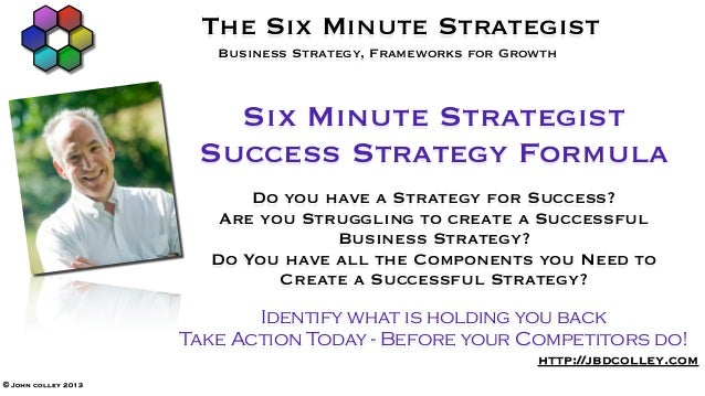 The Six Minute Strategist                        Business Strategy, Frameworks for Growth                        Six Minut...