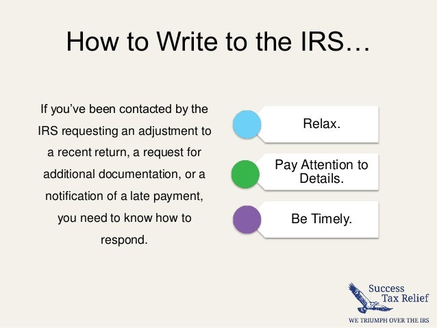 How to write a letter of explanation to the irs from success tax r how expocarfo