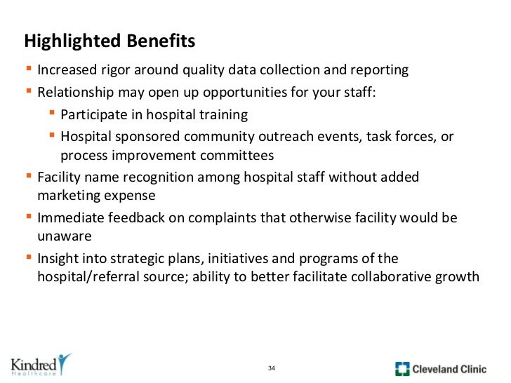Operational Success Through Partnership with Acute Care
