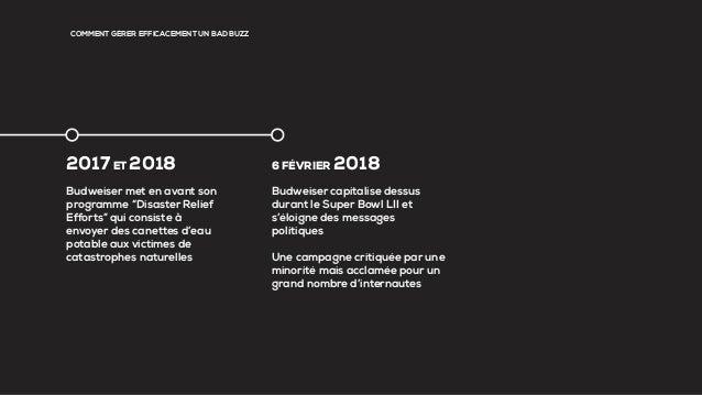 """COMMENT GÉRER EFFICACEMENT UN BAD BUZZ 2017ET 2018 Budweiser met en avant son programme """"Disaster Relief Efforts"""" qui cons..."""