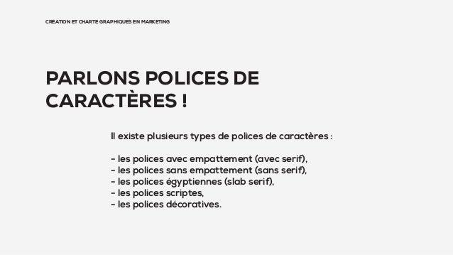 CRÉATION ET CHARTE GRAPHIQUES EN MARKETING PARLONS POLICES DE CARACTÈRES ! Il existe plusieurs types de polices de caractè...