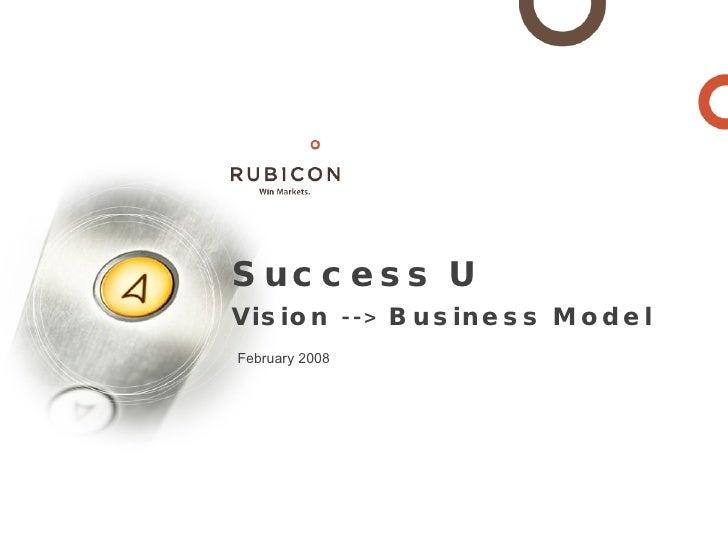 Success U Vision --> Business Model February 2008