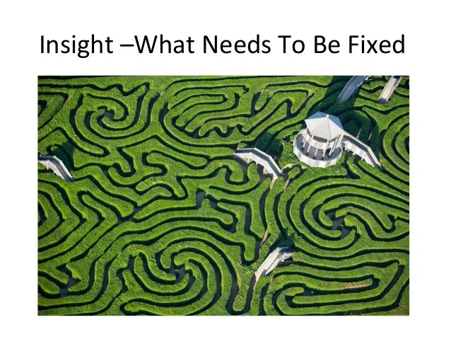 Insight  –What  Needs  To  Be  Fixed