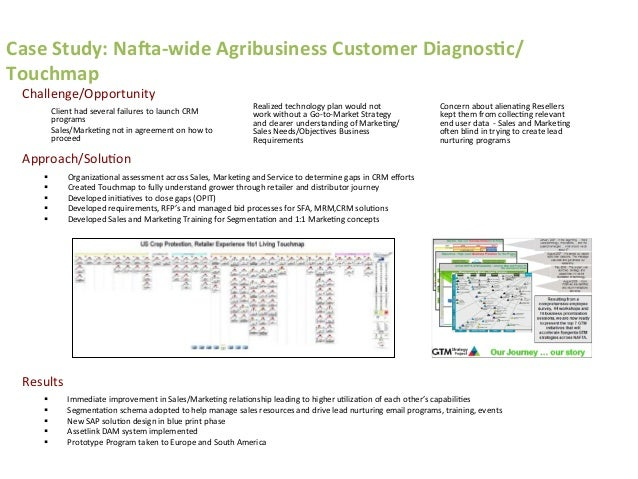 Case  Study:  NaQa-‐wide  Agribusiness  Customer  Diagnos>c/ Touchmap   § Immediate  improvement  in  ...