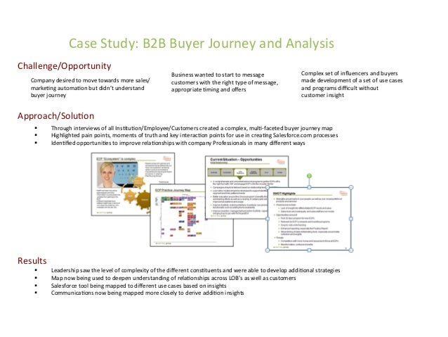 Case  Study:  B2B  Buyer  Journey  and  Analysis   Challenge/Opportunity   Results   § Leadership  s...